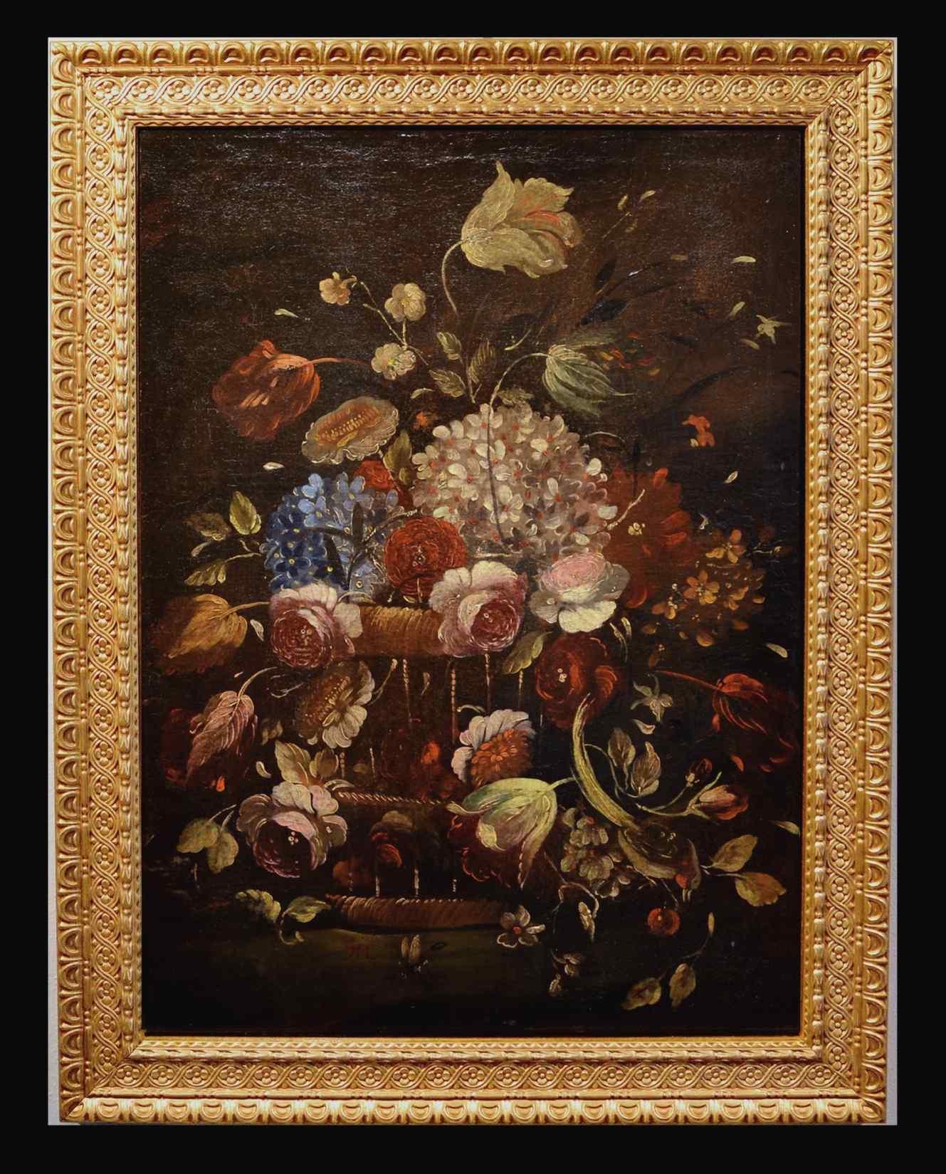 Nature morte avec pot de fleurs