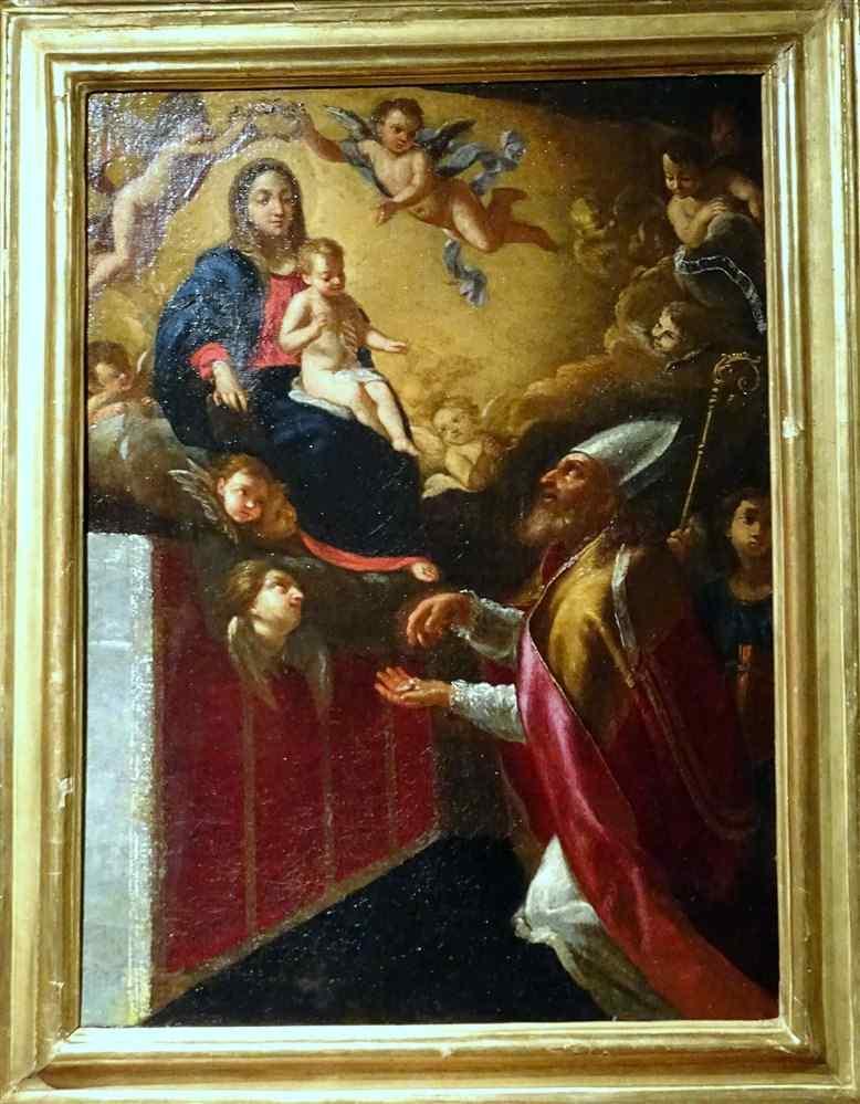 Scuola italiana scena biblica XVII secolo