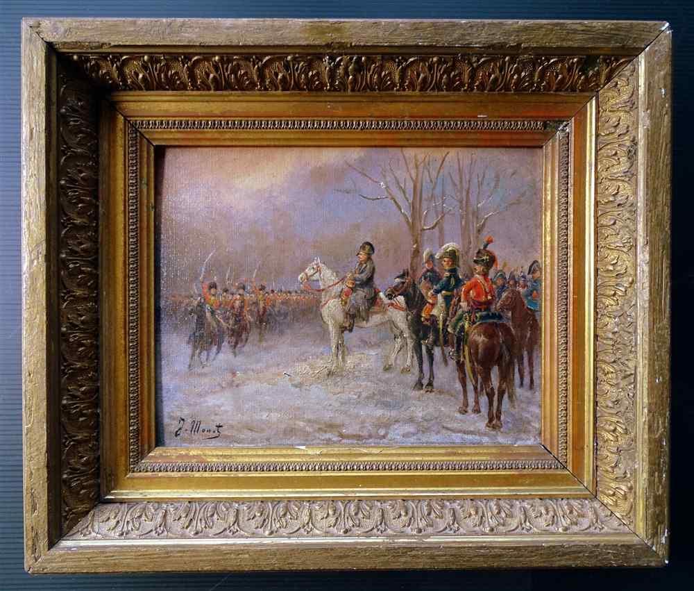 NAPOLEON 1er Revue des troupes Sabres au clair  Ecole França