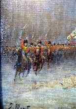 NAPOLEON 1er Revue des troupes Sabres au clair  Ecole França-6