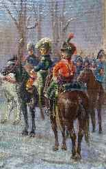 NAPOLEON 1er Revue des troupes Sabres au clair  Ecole França-4