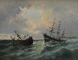 Jan Georges Berton, 19th century, Pair of marinas with saili-2
