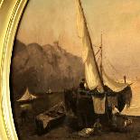 Tableau oval signé par Alessandro LA VOLPE ( 1820 - 1887 )-1