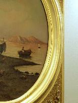 Tableau oval signé par Alessandro LA VOLPE ( 1820 - 1887 )-5