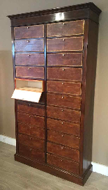 Cartonnier  22 boîtes en acajou milieu XIXème-1