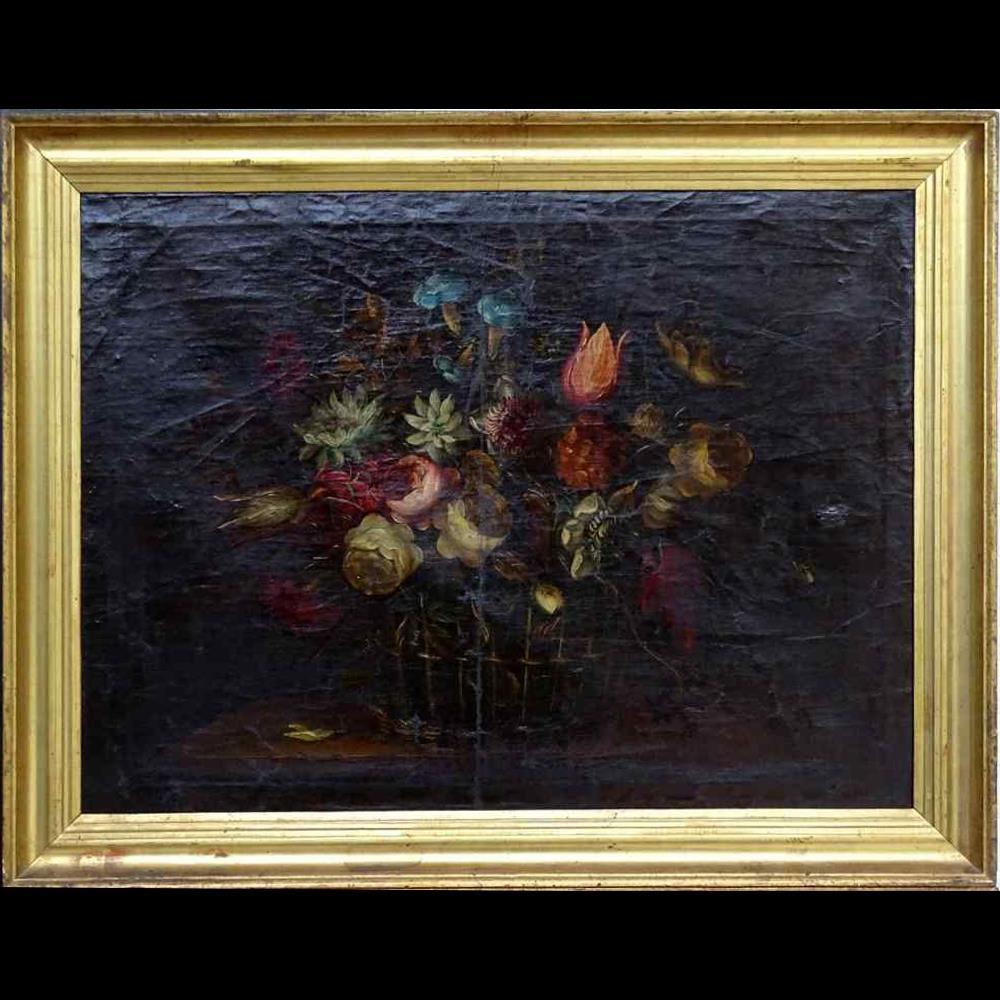 Willem van Aelst 1627-1683 Rare Pair of Flower Baskets