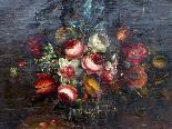 Willem van Aelst 1627-1683 rari cesti di fiori Coppia-3
