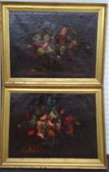 Willem van Aelst 1627-1683 rari cesti di fiori Coppia-13