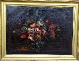 Willem van Aelst 1627-1683 rari cesti di fiori Coppia-0