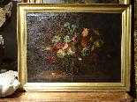 Willem van Aelst 1627-1683 rari cesti di fiori Coppia-11