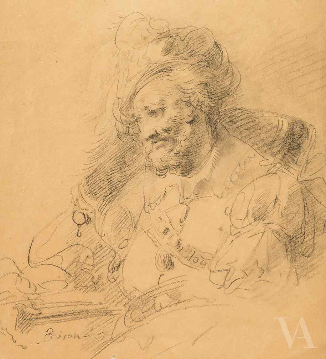 Joseph B. Bison, Portrait de lettres, Venise sec. XVIII