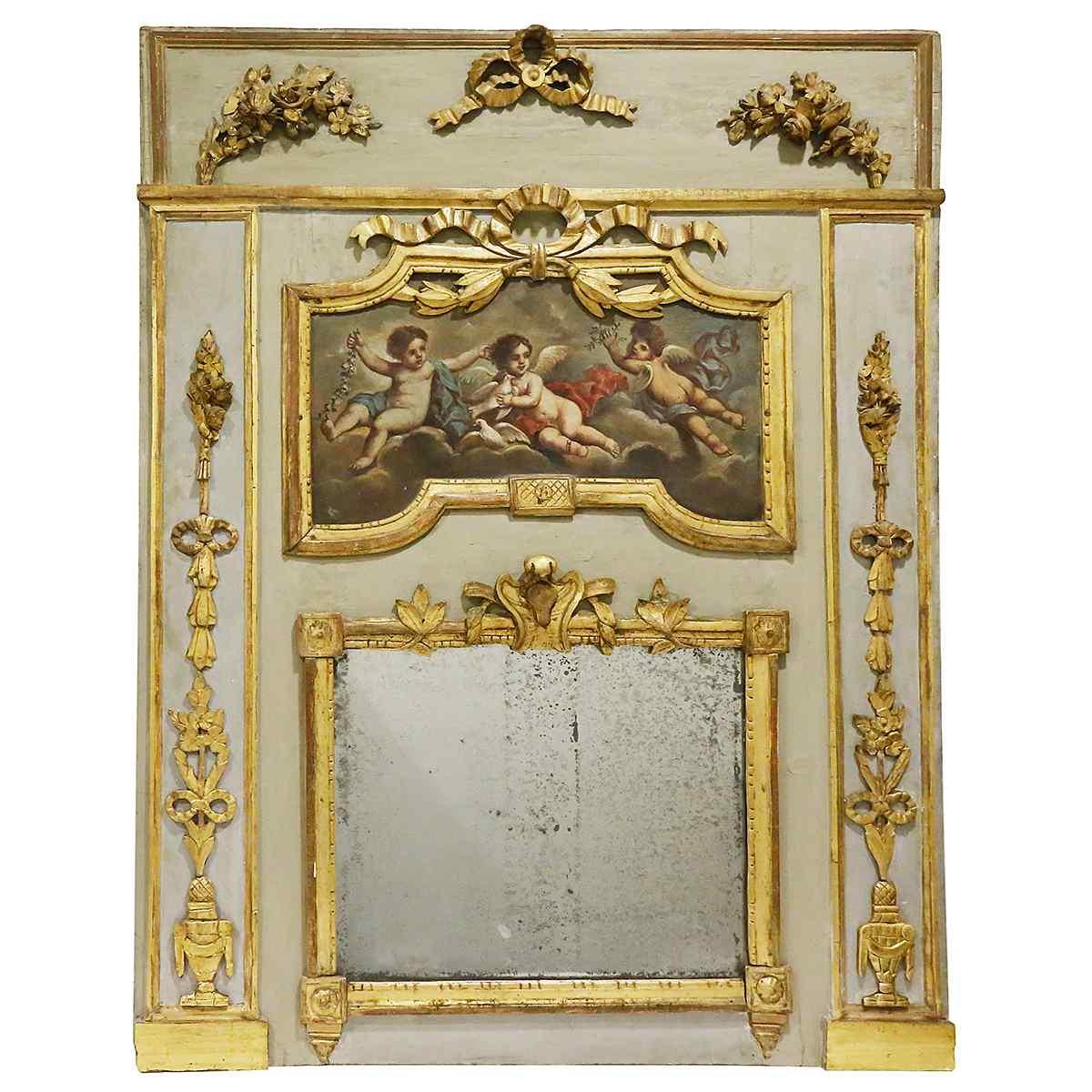 Uno specchio trumeau del XVIII secolo