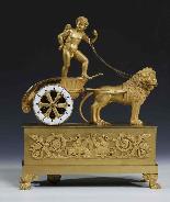 Pendule en bronze doré au mercure-0