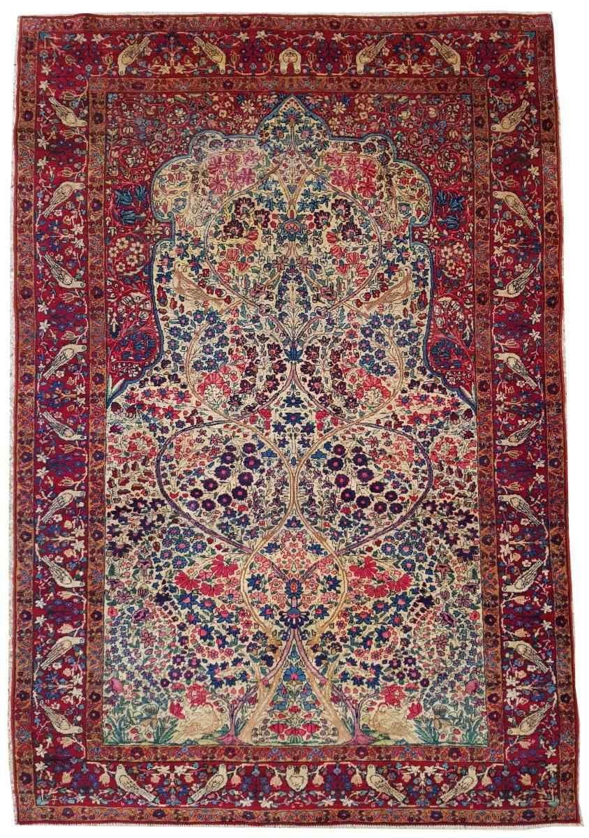Kirman ковер Шерсть Kork - Около 1920 Иран