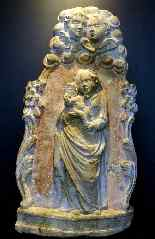 Rare Virgin of Niche in Burgundy Stone Regency Period-10