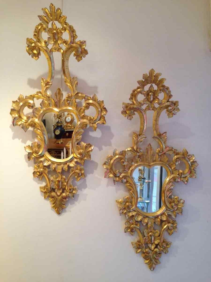 Paire de miroirs Vénitiens