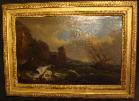French School Eighteenth Century, Follower of VERNET, Wreck-0