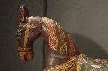 sculpture cheval en bois peint-4