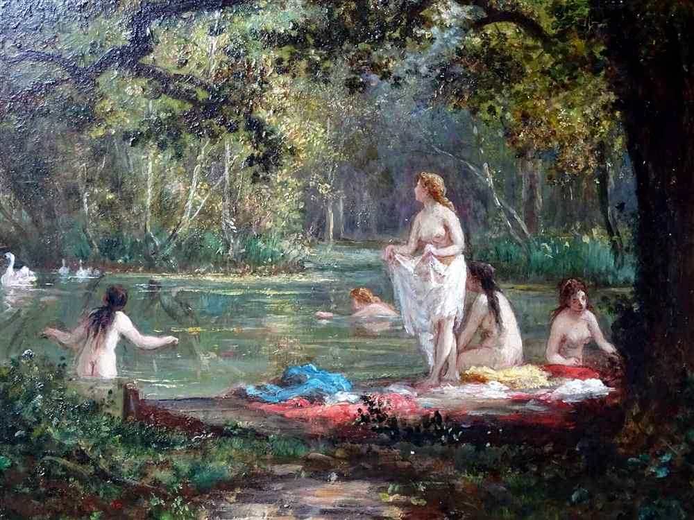 Bather by Charles DESHAYES c1870