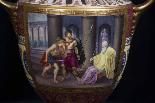 Пара изготовления девятнадцатого века вазы Вены рано-3