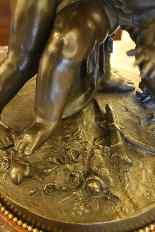 Deux amours se disputant un coeur, bronze d'Après Falconet-8