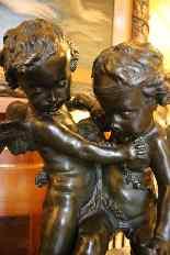 Deux amours se disputant un coeur, bronze d'Après Falconet-0