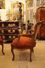 Coppia di poltrone Luigi XV periodo cabriolet-5