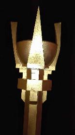 Pique Cierge en bronze Art Déco-0