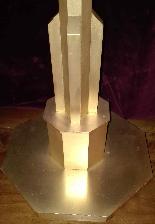 Pique Cierge en bronze Art Déco-1