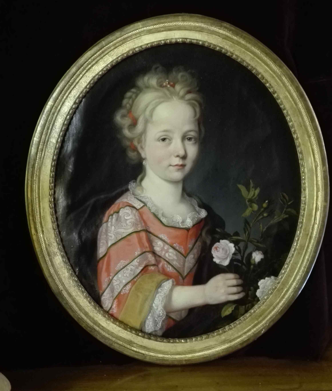 Portrait  De Suzanne Marie de Watteville XVIIIe siècle