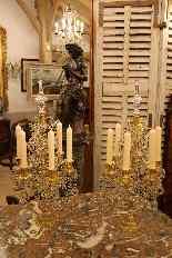 Pair of girandoles bronze and crystal nineteenth century-1