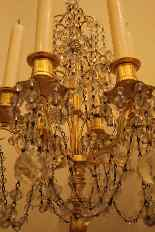 Pair of girandoles bronze and crystal nineteenth century-10