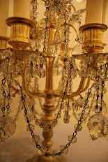 Pair of girandoles bronze and crystal nineteenth century-12