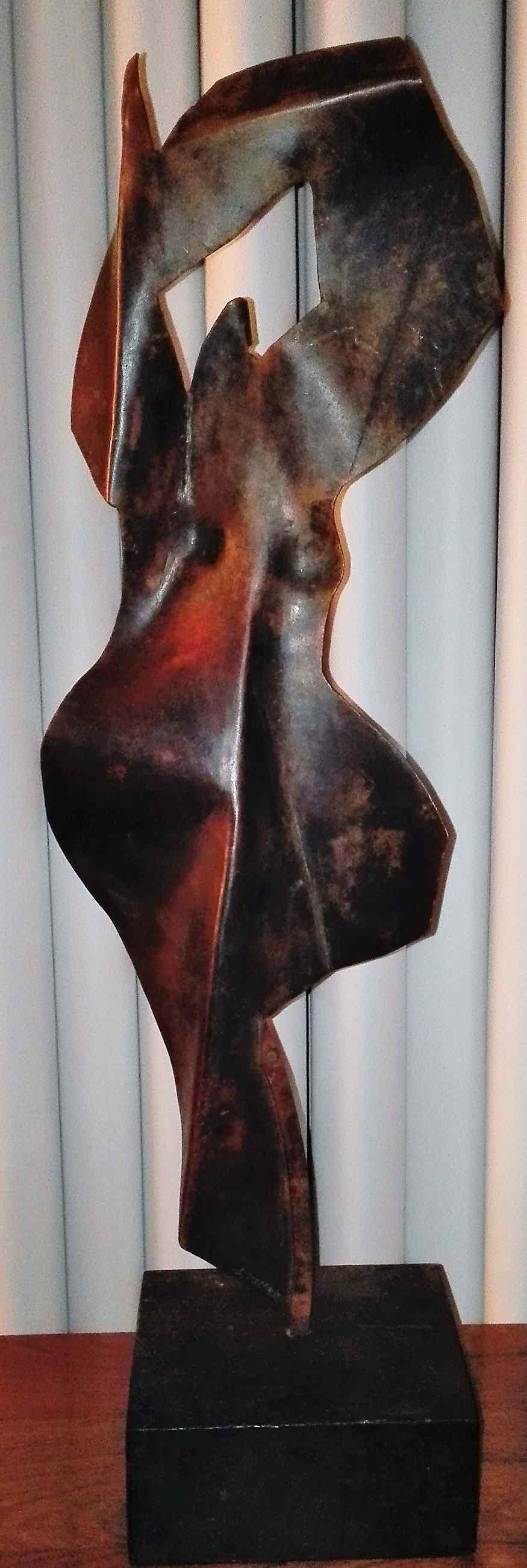 Sébastien TOURET - MAROLES  - Sculpture femme en cuivre