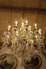 Lustre en bronze et Cristal de Baccarat à 18 lumières, XIXè-10