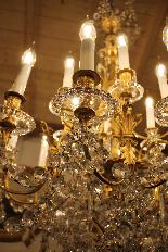 Lustre en bronze et Cristal de Baccarat à 18 lumières, XIXè-8