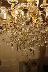 Lustre en bronze et Cristal de Baccarat à 18 lumières, XIXè-16