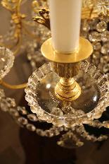 Lustre en bronze et Cristal de Baccarat à 18 lumières, XIXè-7