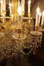 Lustre en bronze et Cristal de Baccarat à 18 lumières, XIXè-15