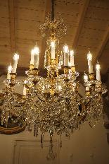 Lustre en bronze et Cristal de Baccarat à 18 lumières, XIXè-4