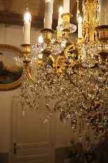 Lustre en bronze et Cristal de Baccarat à 18 lumières, XIXè-18