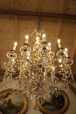 Lustre en bronze et Cristal de Baccarat à 18 lumières, XIXè-5