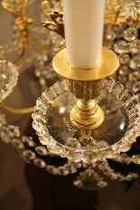 Lustre en bronze et Cristal de Baccarat à 18 lumières, XIXè-14