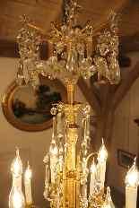Lustre en bronze et Cristal de Baccarat à 18 lumières, XIXè-11