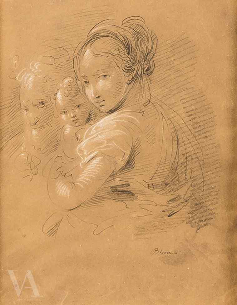Giuseppe Bernardino Bison, Sainte Famille, Signé
