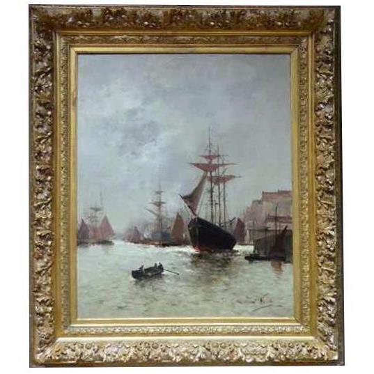 Морская живопись подписана A - Nolet XIX