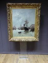 Морская живопись подписана A - Nolet XIX-9