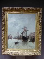 Морская живопись подписана A - Nolet XIX-6