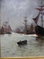 Морская живопись подписана A - Nolet XIX-1