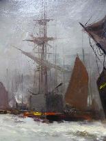 Морская живопись подписана A - Nolet XIX-2